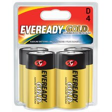 D Cell Alkaline Battery (4 Pack)