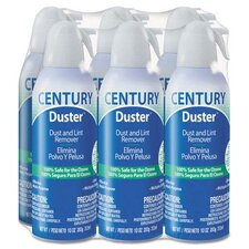 Century Duster Disposable Compressed Gas Duster, 10 oz (Set of 6)