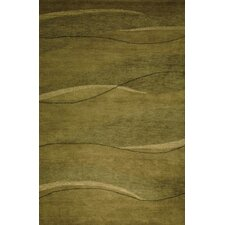 Ambiance Green Waves Rug