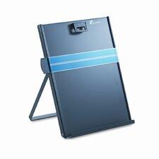 Kopy-Aid Letter-Size Freestanding Desktop Copyholder, Stainless Steel, Black