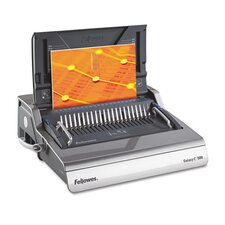 Galaxy 500 Manual Comb Binding Machine, 500-Sheet, 20-7/8 x 17-3/4 x 6-1/2, Gray