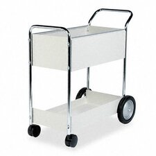 Steel Mail Cart, 150-Folder Capacity