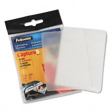 Laminating Pouches, 5 Mil, 2 5/8 X 3 7/8, Id Size, 25/Pack