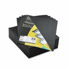 <strong>Fellowes Mfg. Co.</strong> Executive Presentation Binding System Cover, 8 3/4 x 11 1/4, Black, 200 per Pack