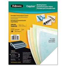Copylux Printable Binding System Covers, 50/Pack
