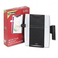 <strong>Fellowes Mfg. Co.</strong> Office Suites Monitor Mount Copyholder, Plastic, Holds 150 Sheets