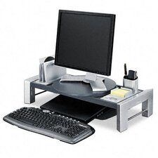 <strong>Fellowes Mfg. Co.</strong> Flat Panel Workstation Shelf, Gray Laminate Top