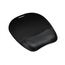 <strong>Fellowes Mfg. Co.</strong> Mouse Pad with Wrist Rest, Nonskid Back, 8 X 9-1/4