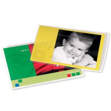 "Laminator Photo Pouch,4-1/2""x6-1/4"",5 mil.,25/PK,Clear"