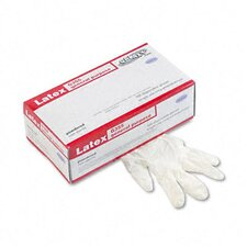 Boardwalk Disposable General-Purpose Natural Rubber Latex Gloves, Powdered, Med, 100/Box