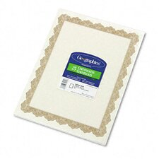 Parchment Paper Certificates, Optima Gold Border, 25/Pack
