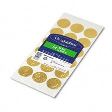 Self-Adhesive Embossed Seals, 54/Pack