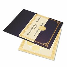 Ivory/Gold Foil Embossed Award Cert. Kit, 6 Pack.