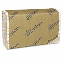 Envision C-Fold 1-Ply Paper Towel - 240 Sheets per Pack / 10 Packs per Carton