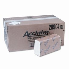 Acclaim 1-Fold Paper Towel, 10-1/4 x 9-1/4, WE, 250/pack, 16/ctn