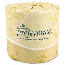 <strong>Georgia Pacific</strong> Embossed 2-Ply Bathroom Tissue, 550 Sheet/Roll, 80 Rolls/Carton