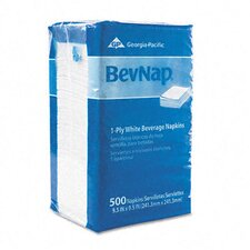 Bevnap Beverage Napkins, Single-Ply, 4000/Carton