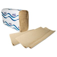 Windsoft Embossed Multifold 1-Ply Paper Towels - 250 Sheet per Pack / 16 Pack per Carton