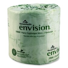 Envision 2-Ply Bathroom Tissue - 550 Sheets per Roll / 80 Rolls per Carton
