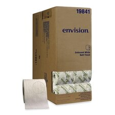 Envision Embossed 1-Ply Bathroom Tissue - 550 Sheets per Roll / 40 Rolls per Carton