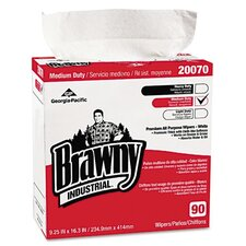 Brawny Industrial Medium-Duty Premium Wipes, 90/Box, 10/Carton