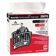 <strong>Georgia Pacific</strong> Brawny Industrial Heavy Duty Shop Towels, 100/Box, 5/Carton