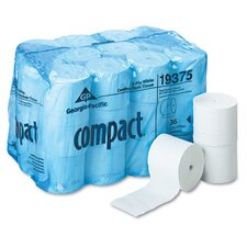 Compact Coreless 2-Ply Bath Tissue in White