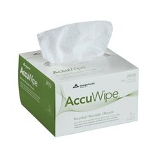 Accu Wipe Recycled One Ply Delicate Task Wipers in White, 280/Box