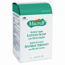 MICRELL NXT Antibacterial Lotion Soap Refill, Light Scent, 1000ml Bag, 8/ctn