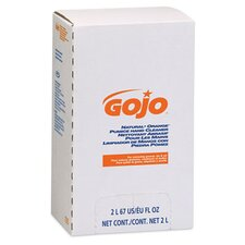 <strong>GOJO Industries</strong> Natural Orange Pumice Hand Cleaner Refill, Citrus Scent, 2000 Ml, 4/Carton