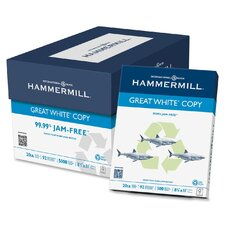 Great White Recycled Copy Paper, 92 Bright, 20Lb, 200000 Sheets/Plt