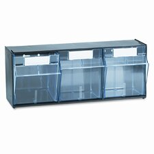 Tilt Bin Plastic Storage System with 3 Bins