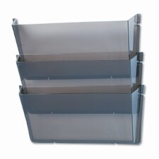 Unbreakable Wall File Set, Letter, Three Pockets, Smoke