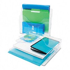 Three-Tier Document Organizer, Plastic