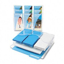 Three-Tier Document Organizer with Dividers, 13-3/8W X 3-1/2D X 11-1/2H