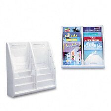 "Multi-Tiered Desktop/Wall-Mount Literature Holders, 20.25"" Wide"