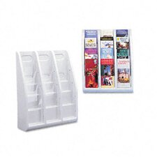 "Multi-Tiered Desktop/Wall-Mount Literature Holders, 15.75"" Wide"