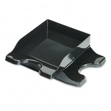 <strong>Deflect-O Corporation</strong> Docutray Multi-Directional Stacking Tray Set, Two-Tier, Polystyrene, Black