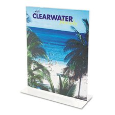 Classic Image Stand-Up Two-Sided Desktop Sign Holder, Plastic, 4 x 6