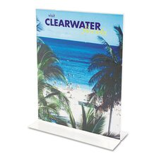 Classic Image Stand-Up Two-Sided Desktop Sign Holder, Plastic, 8-1/2 x 11