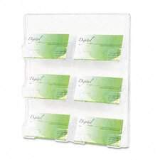 <strong>Deflect-O Corporation</strong> Six-Pocket Wall Mount Business Card Holder, 8-3/8 x 1-1/2 x 9-3/4, Clear
