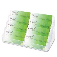 Eight-Pocket Business Card Holder, Capacity 400 Cards, Clear
