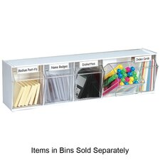 "<strong>Deflect-O Corporation</strong> Tilt Bins,Interlocking,5-Bins,23-5/8""x5-1/4""x6-1/2"",White"
