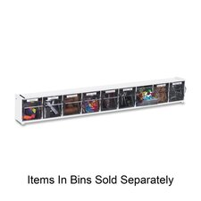 "Tilt Bins,Interlocking,9-Bins,23-5/8""x2-1/2""x3-5/16"",White"