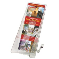 "Lit. Rack, 1 Leaflet Size Pocket, 4-9/16""x11-3/4""x5-1/4"", Clear"