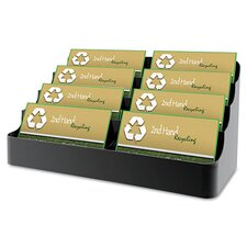 Recycled Business Card Holder, Holds 450, Eight-Pocket