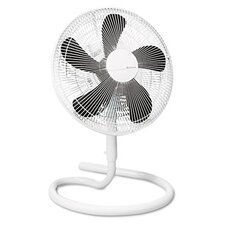 "16"" Three-Speed Adjustable Oscillating Floor Fan, Metal and Plastic"