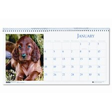 Puppy Photos Desk Tent Monthly Calendar, 8-1/2 x 4-1/2, 2013