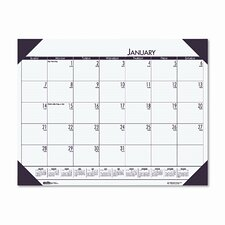 EcoTones Moonlight Cream Monthly Desk Pad Calendar, 22 x 17, 2013