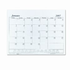 One-Color Monthly Desk Pad Calendar Refill, 22w x 17h, 2013